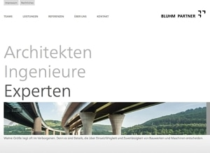 Website Architekten Ingenieure Bluhm Partner