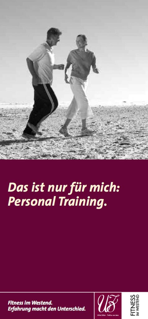 Personaltrainerin Flyer - Titel