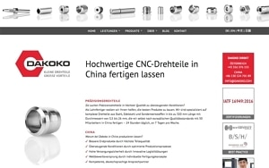 Website-Text CNC-Drehteile China